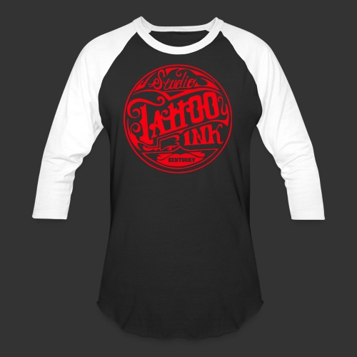 theright oneSTUDIO INK LOGOred edited 3 png - Unisex Baseball T-Shirt