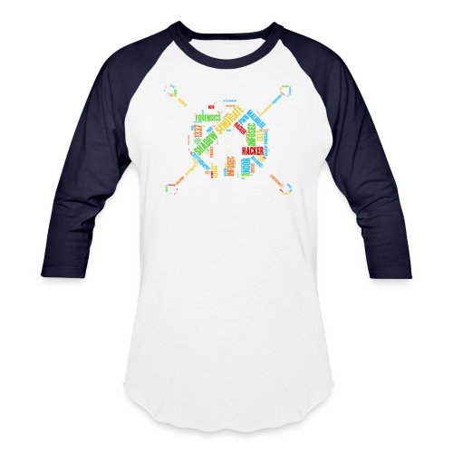 Shad0w Synd1cate Logo Word Cloud (Color) - Baseball T-Shirt
