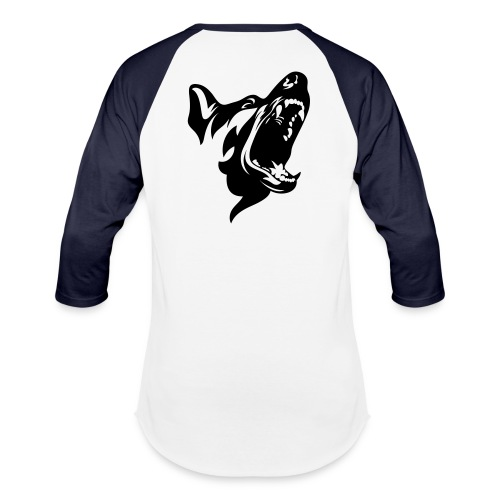 German Shepherd Dog Head - Baseball T-Shirt