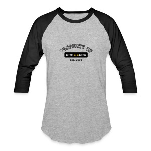 Property of Brazzers logo outline - Baseball T-Shirt