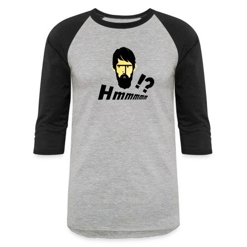 hmm!? emotion serious bearded face - Baseball T-Shirt
