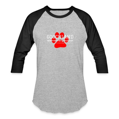 GES PTA Red Pawprint - Baseball T-Shirt