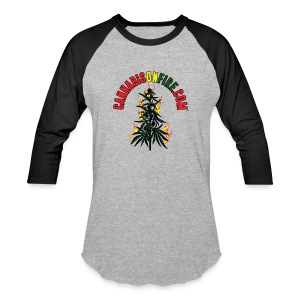 Cannabis On Fire T-Shirt 420 Cannabis Wear 2017 - Baseball T-Shirt