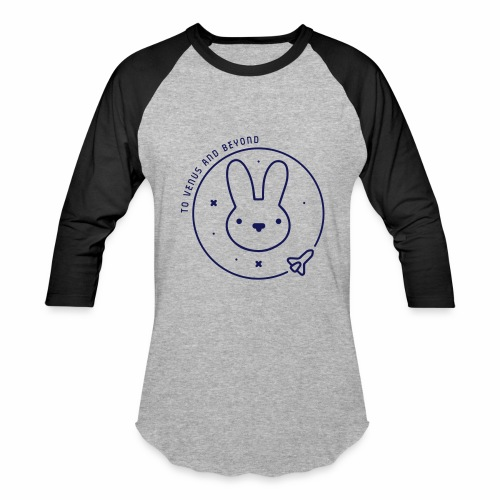 Space Bunny - To Venus And Beyond - Baseball T-Shirt