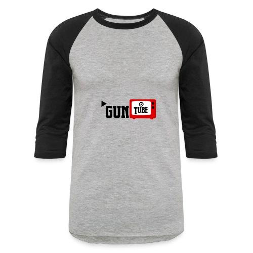 guntube larger logo - Baseball T-Shirt