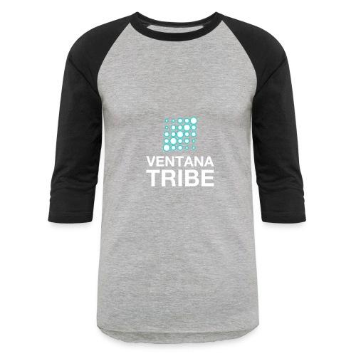 Ventana Tribe White Logo - Baseball T-Shirt