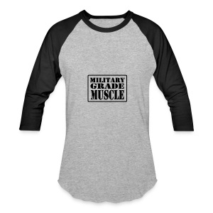 Military Grade Muscle Black - Baseball T-Shirt
