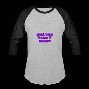 Shooting Star Review Purple Logo - Baseball T-Shirt