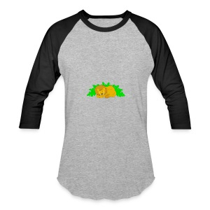 Sleeping Lion - Baseball T-Shirt