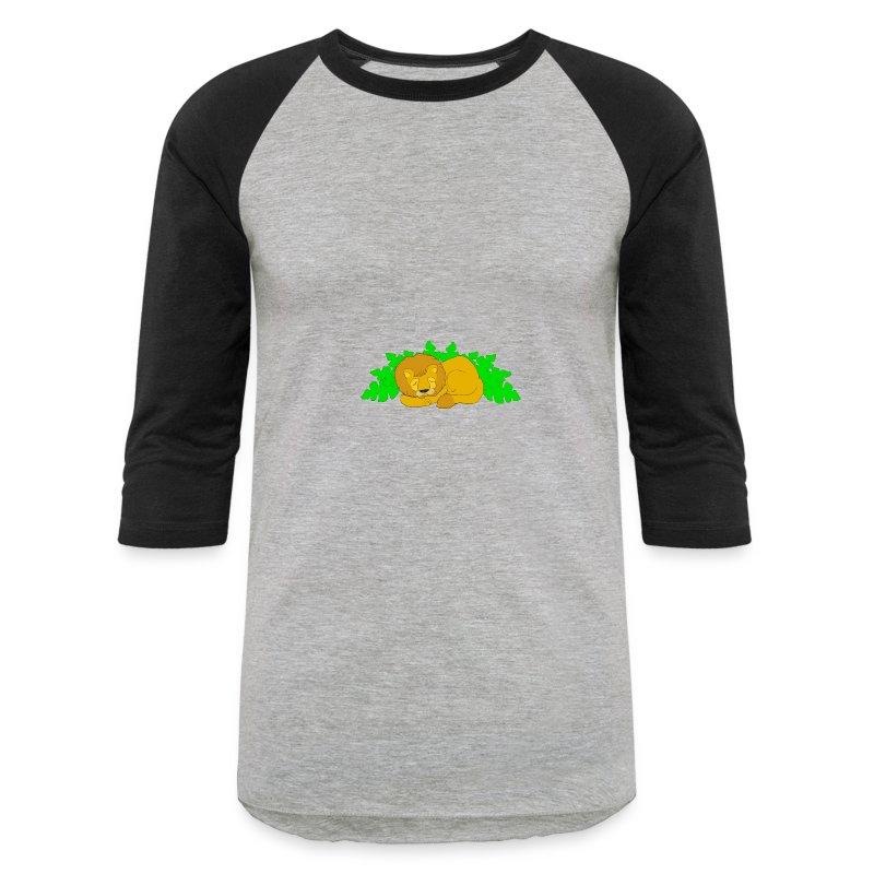 Sleeping Lion - Baseball T-Shirt