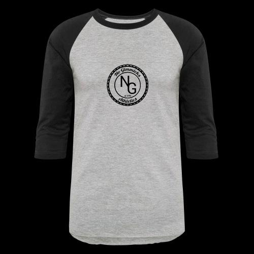 no gimmicks logo svart - Baseball T-Shirt