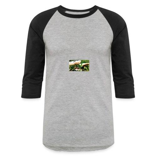 mushrooms - Baseball T-Shirt