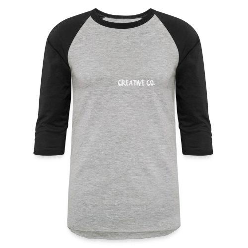 Creative Co Front Logo White - Baseball T-Shirt