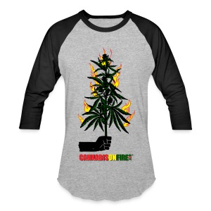 Cannabis On Fire T-shirts - Baseball T-Shirt