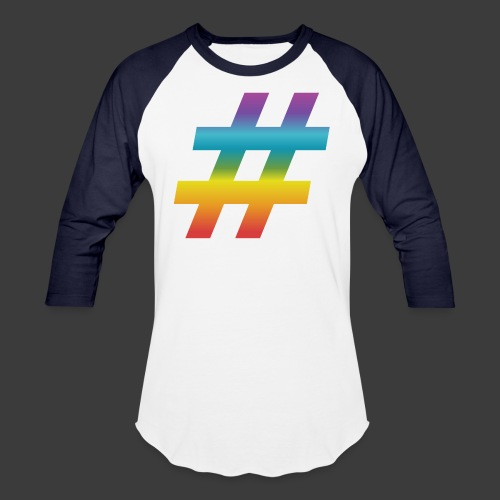 Rainbow Include Hash - Unisex Baseball T-Shirt