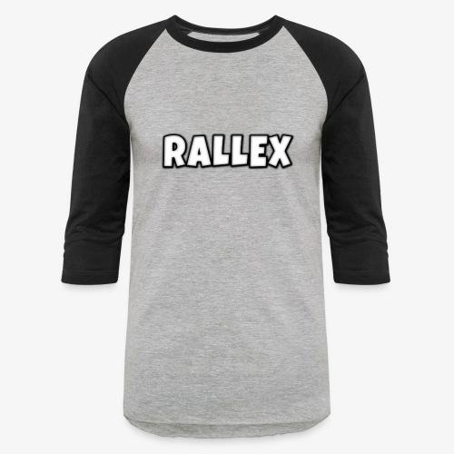 Plain Rallex Logo2 - Unisex Baseball T-Shirt