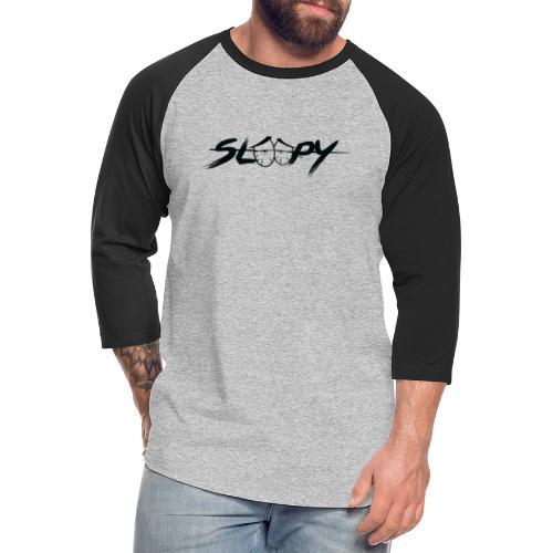 Sleepy Logo Black - Unisex Baseball T-Shirt