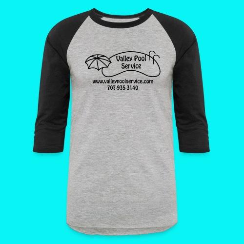 BESTLOGO trans (Black) - Unisex Baseball T-Shirt