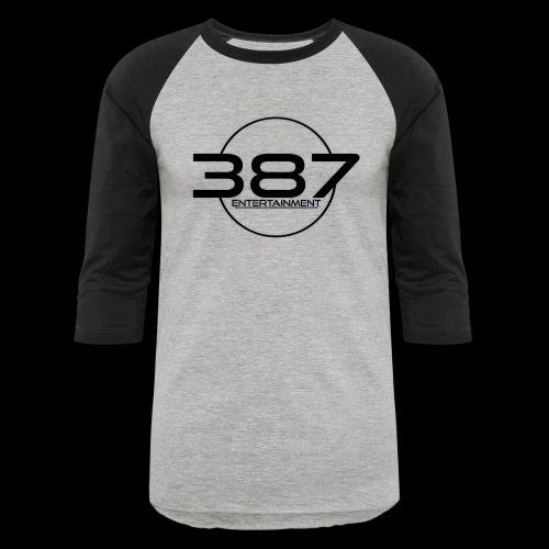 387 Entertainment Black - Baseball T-Shirt