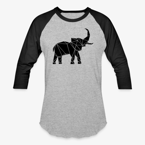 Lowpoly lephant - Baseball T-Shirt