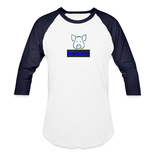 Hammie Logo with Brand Name - Baseball T-Shirt