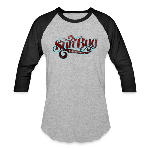 SunBug lettering logo version 2 - Unisex Baseball T-Shirt