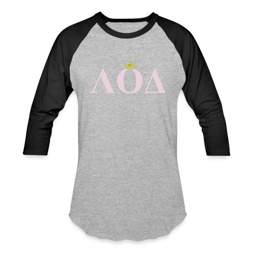 Crown Pink Letters - Baseball T-Shirt