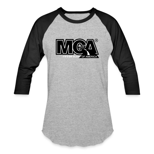 MCA Logo WBG Transparent BLACK TITLEfw fw png - Unisex Baseball T-Shirt