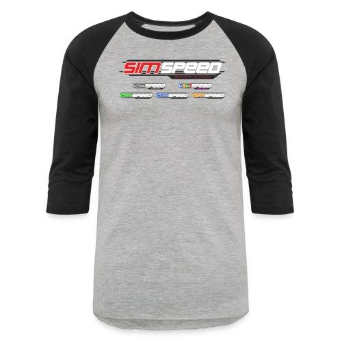 Sim Speed Logos 2000px - Baseball T-Shirt