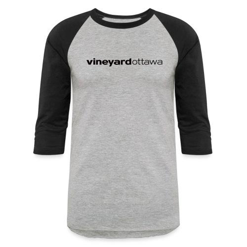 Vineyard Ottawa Logo blac - Baseball T-Shirt