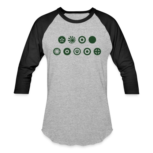 Axis & Allies Country Symbols - One Color - Baseball T-Shirt