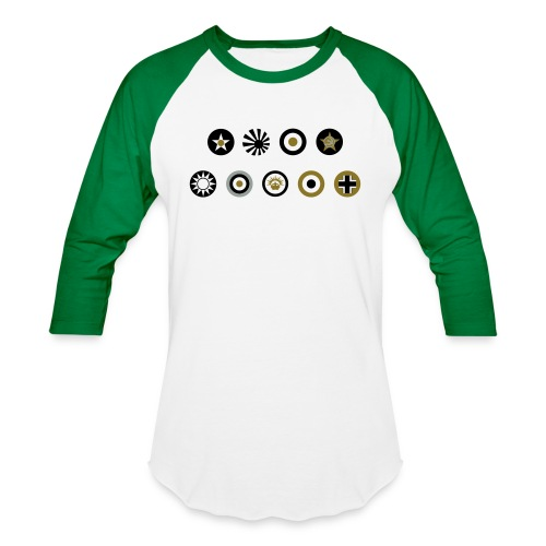 Axis & Allies Country Symbols - 3 Color - Unisex Baseball T-Shirt