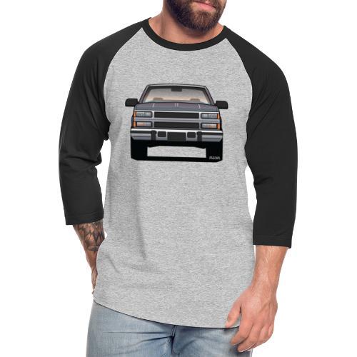 Design Icon: American Bowtie Silver Urban Truck - Unisex Baseball T-Shirt
