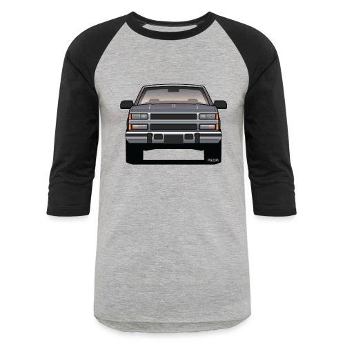 Design Icon: American Bowtie Silver Urban Truck - Baseball T-Shirt