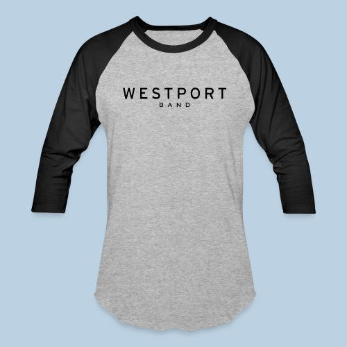 Westport Text Black on transparent - Unisex Baseball T-Shirt