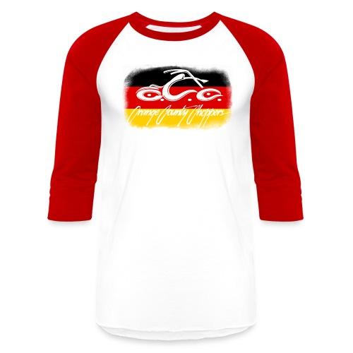 OCC Logo Distressed German Flag - Baseball T-Shirt