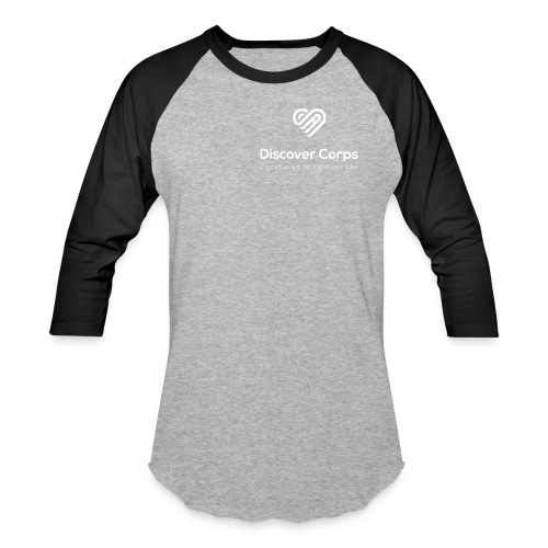 DiscoverCorp Logo Vertical Rev High - Baseball T-Shirt