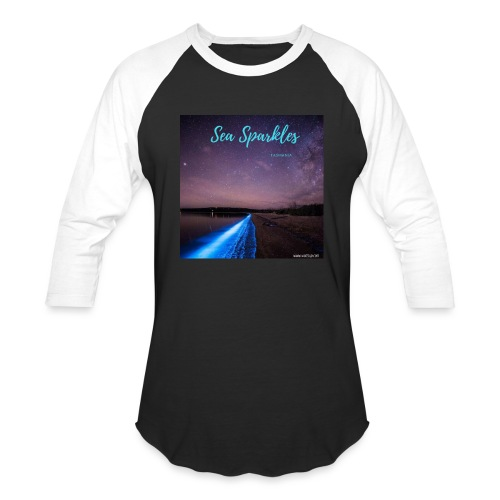 Tasmanian Sea Sparkles - Unisex Baseball T-Shirt
