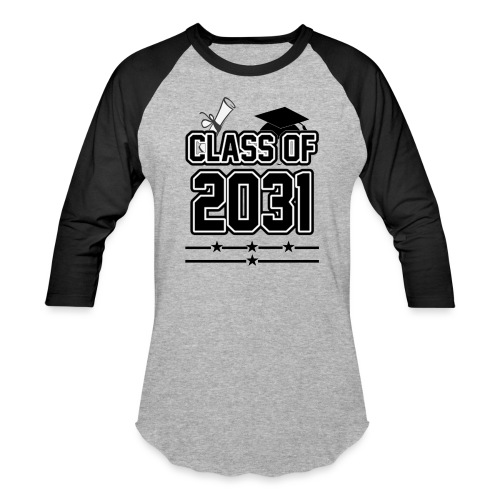 Class of 2031 Grow with me Shirt - Baseball T-Shirt