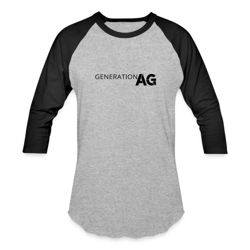 Generation Ag Black - Unisex Baseball T-Shirt