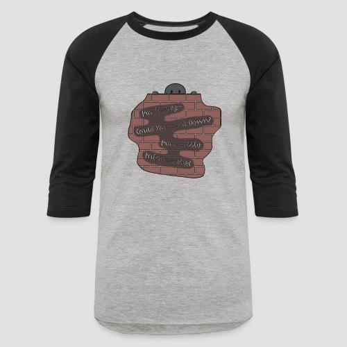 Speak Down. - Unisex Baseball T-Shirt