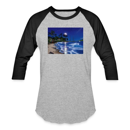 full moon - Baseball T-Shirt