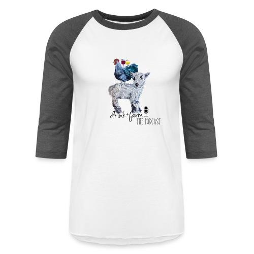 Drink & Farm Logo - Unisex Baseball T-Shirt
