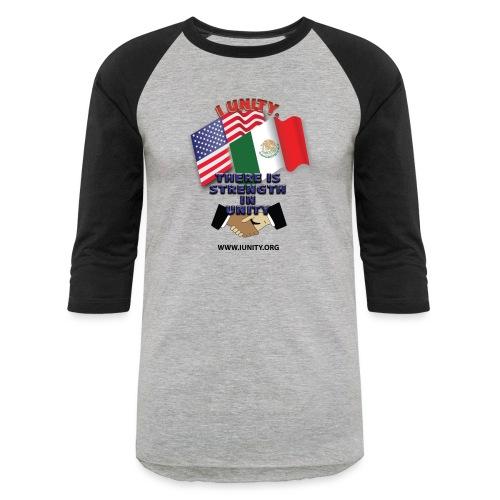 Mexico FlagE01 - Unisex Baseball T-Shirt