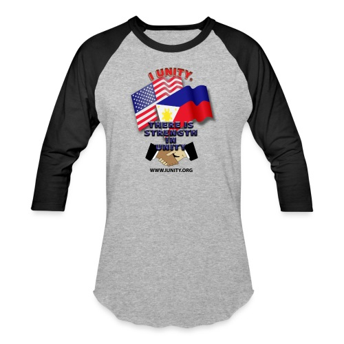 UnityPhilippinoUSA E02 - Unisex Baseball T-Shirt