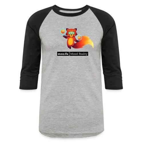 Foxr Floating (black MR logo) - Unisex Baseball T-Shirt