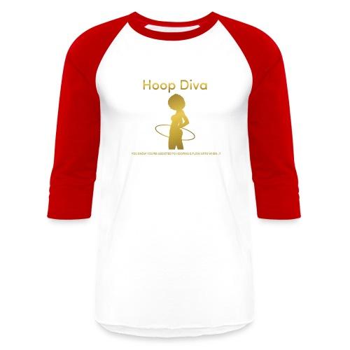 Hoop Diva - Gold - Baseball T-Shirt