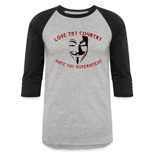 love thy country - Unisex Baseball T-Shirt