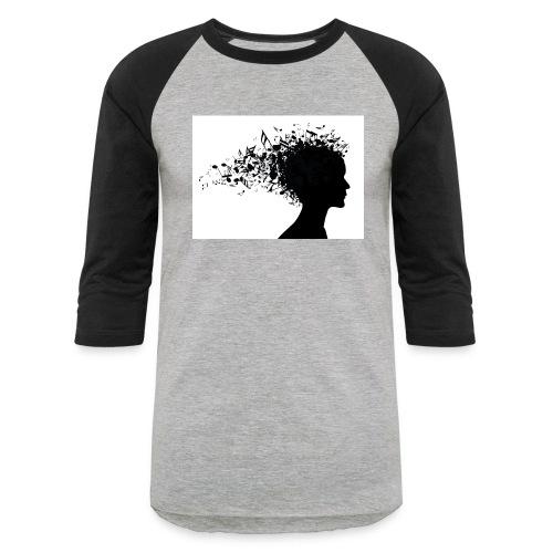 music through my head - Baseball T-Shirt