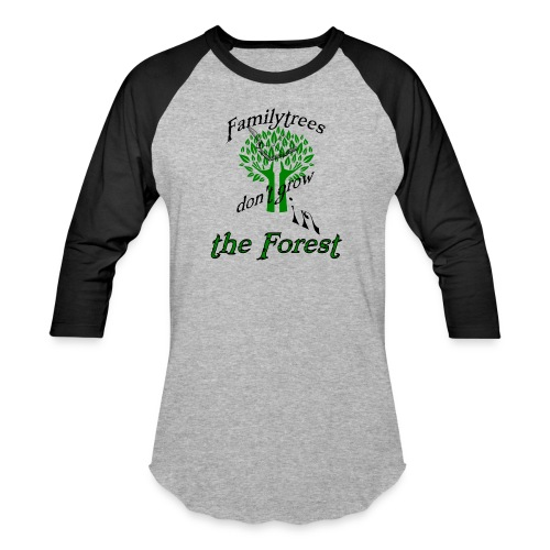 genealogy family tree forest funny birthday gift - Baseball T-Shirt